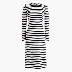 NWT J. Crew Long Sleeve Striped Dress Size 6